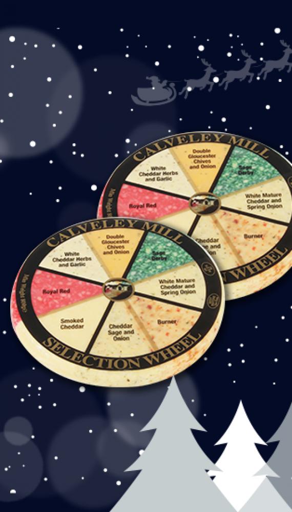 Our cheese wheels make a festive return!