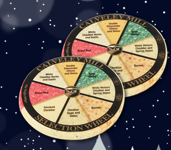 Our cheese wheels make a festive return!
