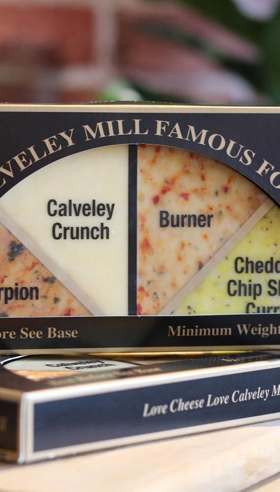 Calveley Mill launches its Famous Four Half Cheese Wheel